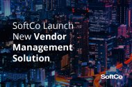SoftCo Announce the Release of New Vendor Management Solution